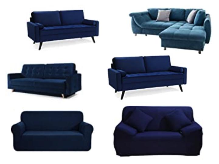 Couch Blau