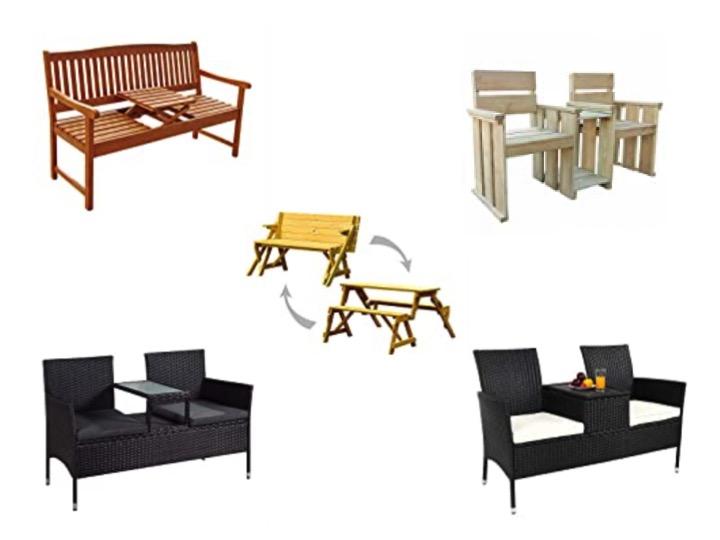 Gartenbank Tisch