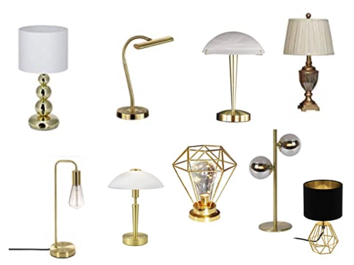 goldene Tischleuchte