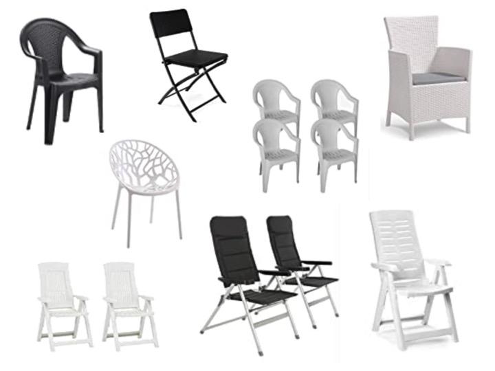 Kunststoff Gartenstühle