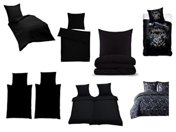 Bettwäsche schwarz